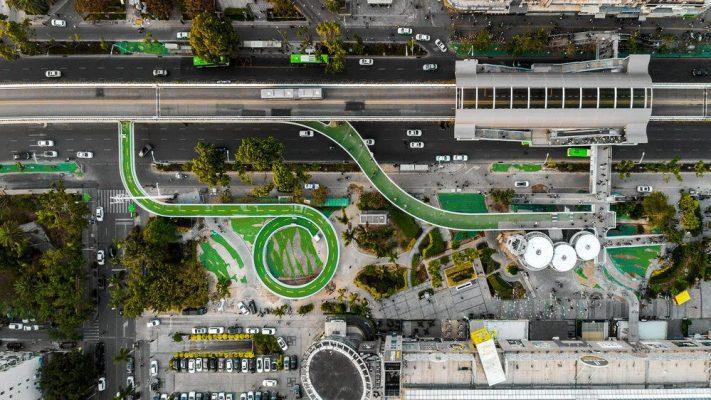 BAB De Xiamen Bicycle Skyway van de Deense architecten Dissing+Weitling